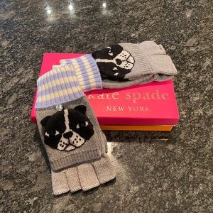 NWT Kate Spade Frenchie Gloves